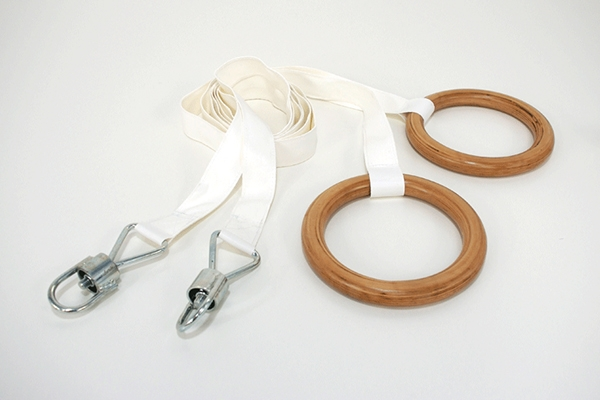 Pair of jointed nylon ropes suitable for rings -