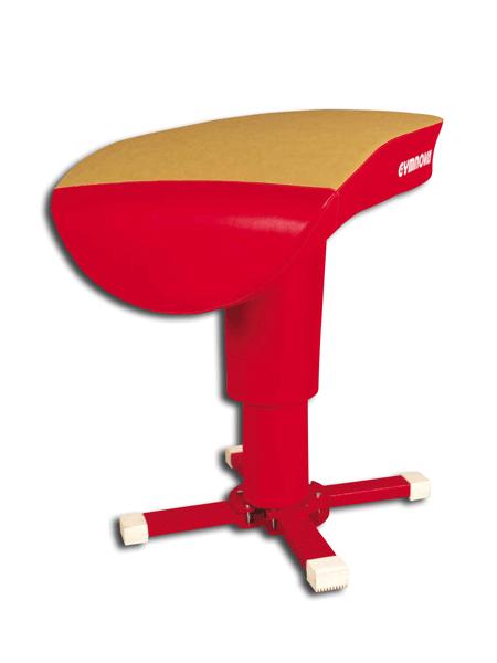 Vaulting table, bi-coloured and anti-slip body -