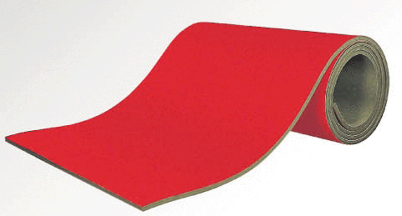 Rollable run-up track covered with carpet, 35mm thickness -