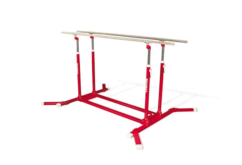 Parallel bars, reinforced varnished steel frame -