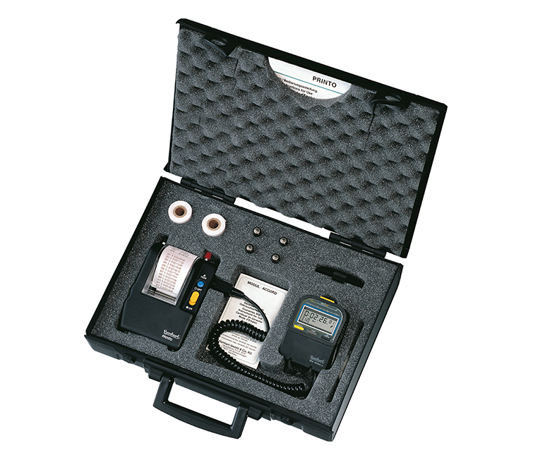 Portable timing system with printer -