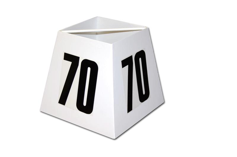 Varnished steel distance marker box -