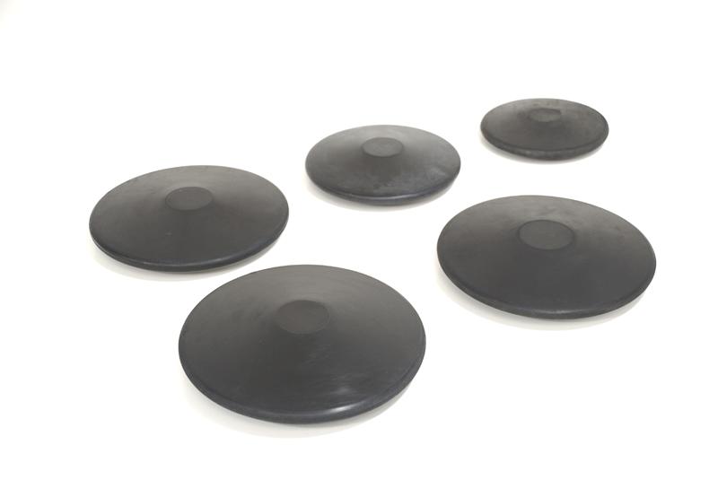 Training rubber discus, 1.5 kg -