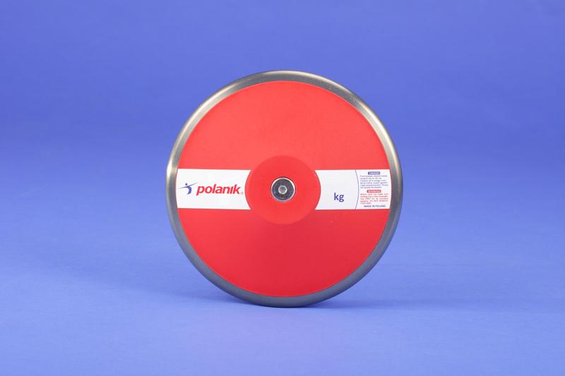 Polanik training plastic discus with steel rim, 0.75 kg -