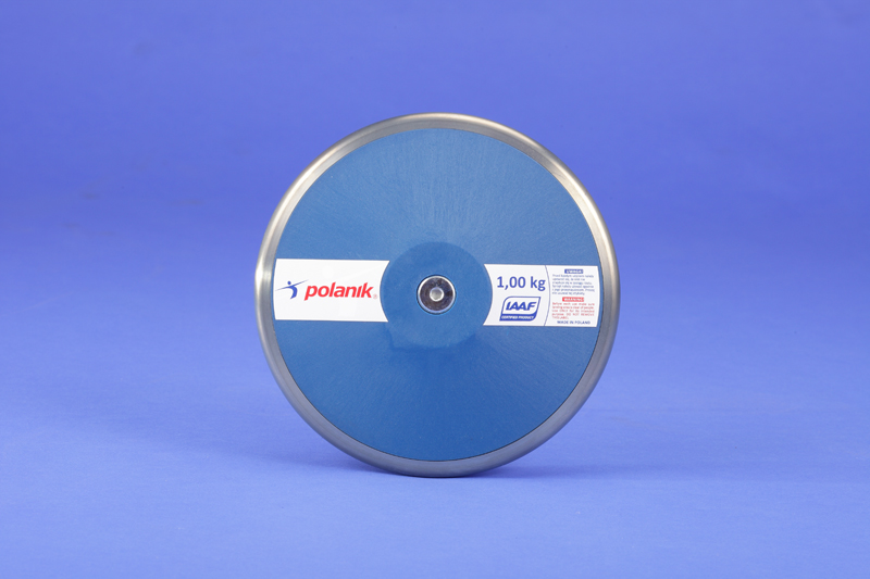Polanik nylon discus with steel rim, 1 kg IAAF approved for competition -