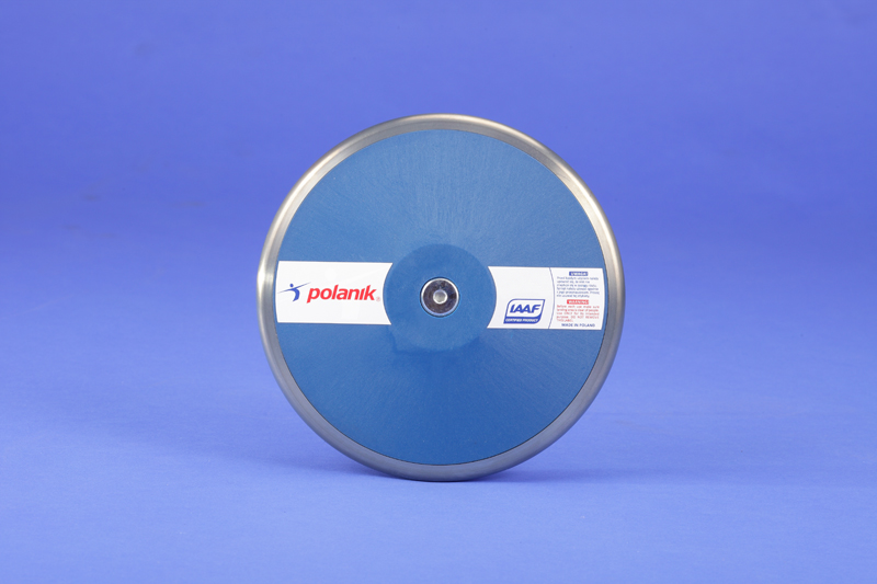Polanik nylon discus with steel rim, 1.75 kg IAAF approved for competition -