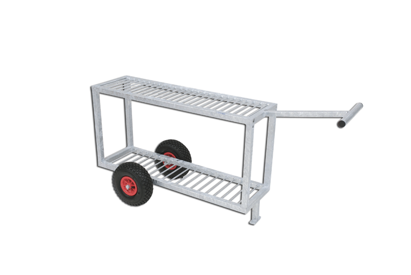 Galvanized steel trolley for discus -