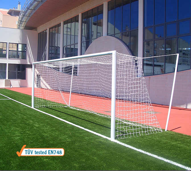 Pair of official size soccer goals -