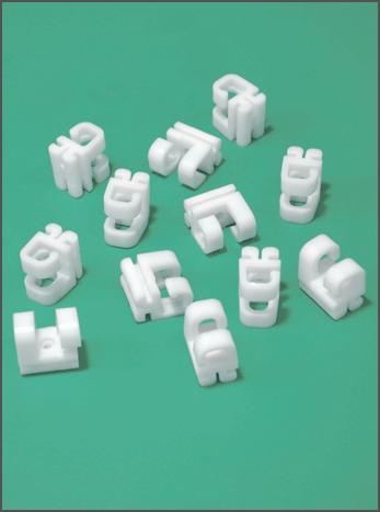Set of 100 plastic safety net holders -