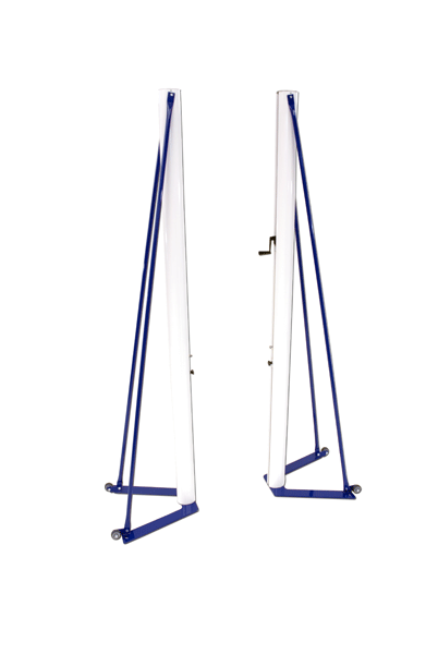 Freestanding portable volleyball system, aluminium model for competition -