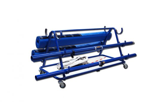 Varnished steel trolley