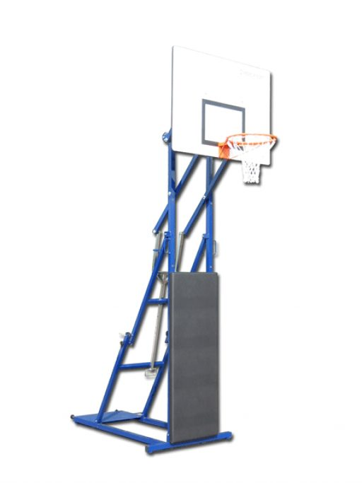 Foldable and portable streetball unit