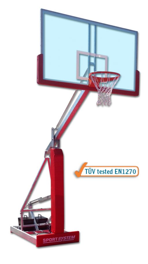 Easyplay College galvanized steel portable streetball backstop