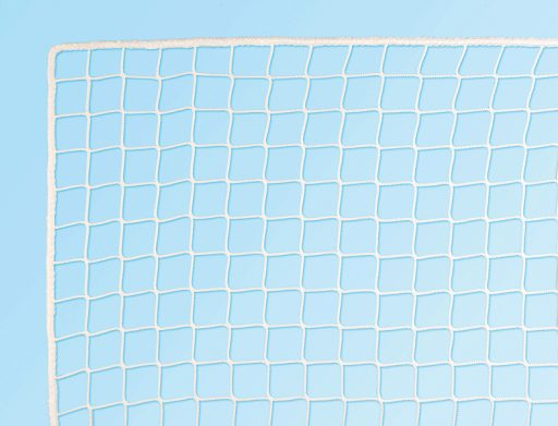 Pair of nylon nets for field hockey goals, standard sizes.