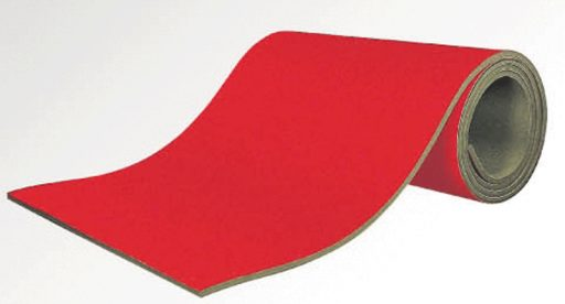 Rollable run-up track covered with carpet, 25mm thickness