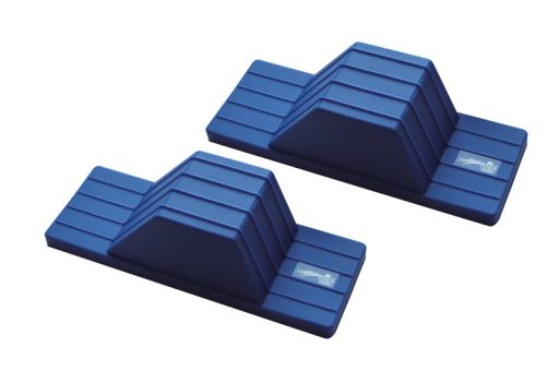 Pair of rubber starting blocks