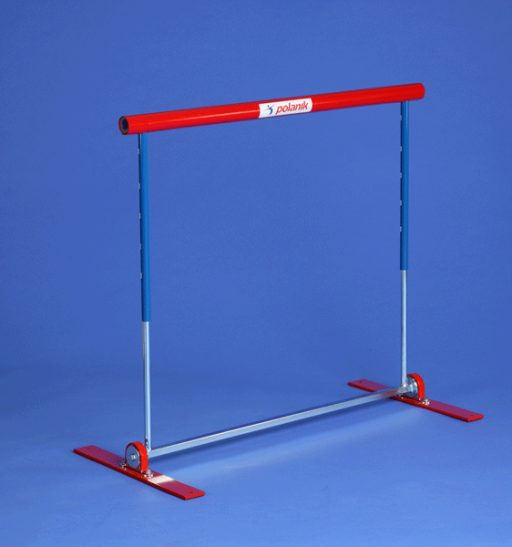 Steel practice hurdle, safety pendular model with tension spring
