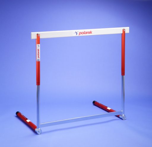 Olympic hurdle made of steel and aluminium