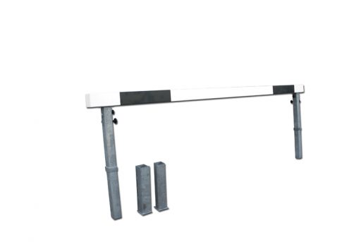 Water jump steeplechase hurdle, galvanized steel structure, wooden bar 366cm long