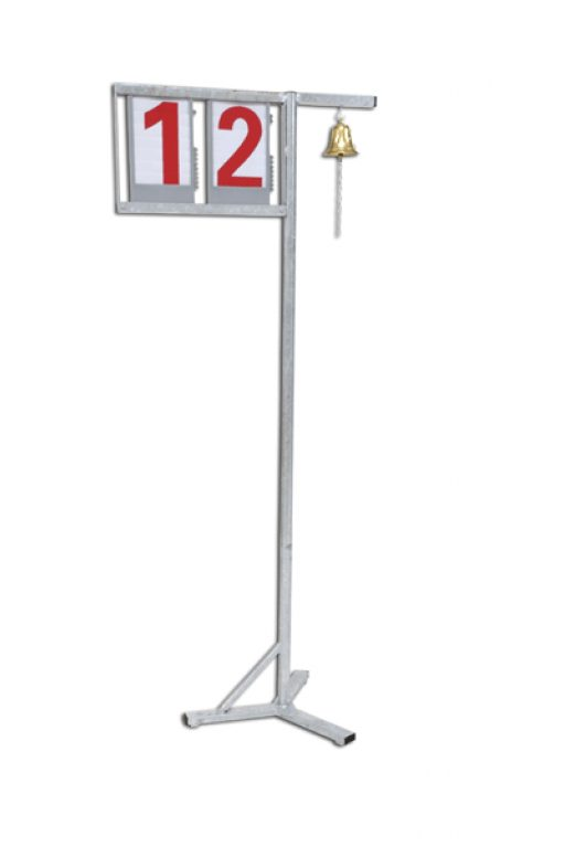 Galvanized steel lap indicator with bell