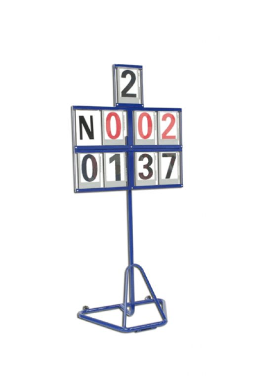 Mobile revolving field event scoreboard 8 figures