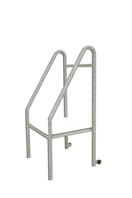 Galvanized steel starter rostrum mobile on wheels