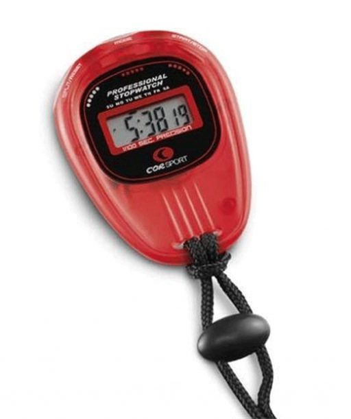 Digital stopwatch, precision 1/100 seconds