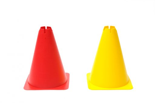 Plastic marking cone, height 30 cm