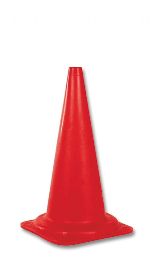 Plastic marking cone, height 50 cm