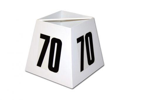 Varnished steel distance marker box