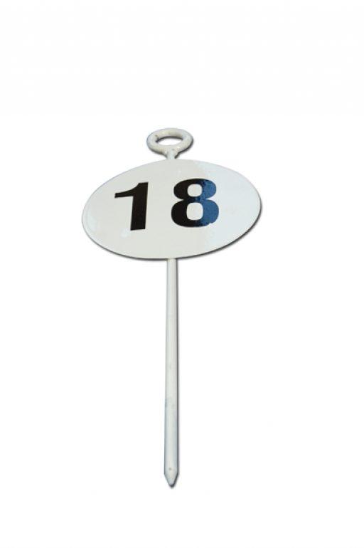 Varnished steel distance marker