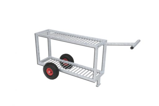 Galvanized steel trolley for discus