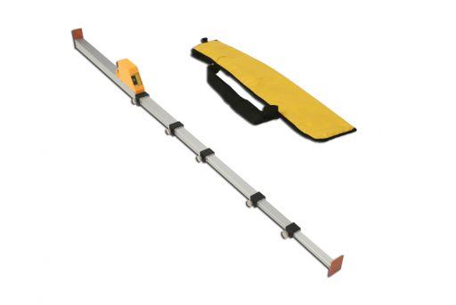 Aluminium height measurer for high jump