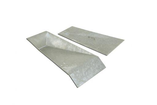 Galvanized steel vault box with cover