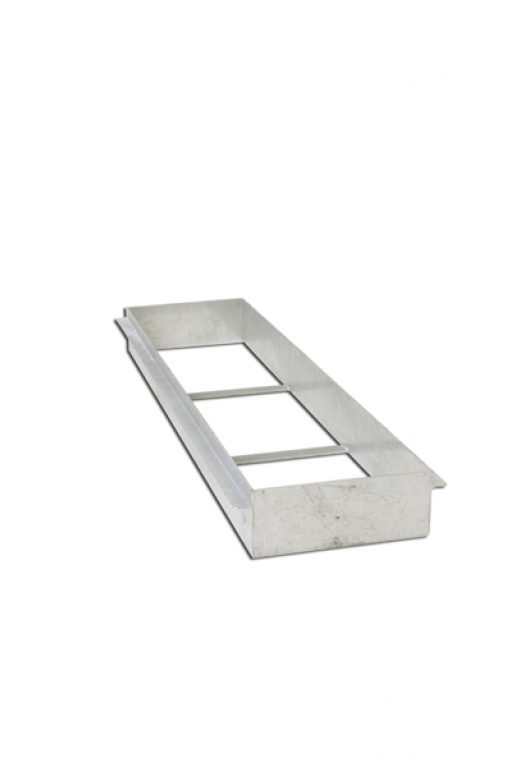 Galvanized steel box for take-off board