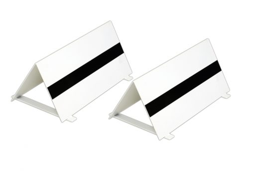 Pair of varnished steel take-off markers
