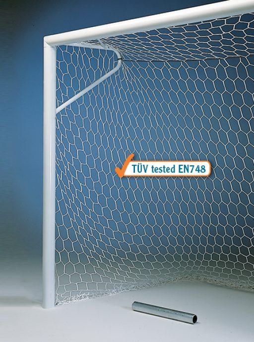 Pair of aluminium standard soccer goals