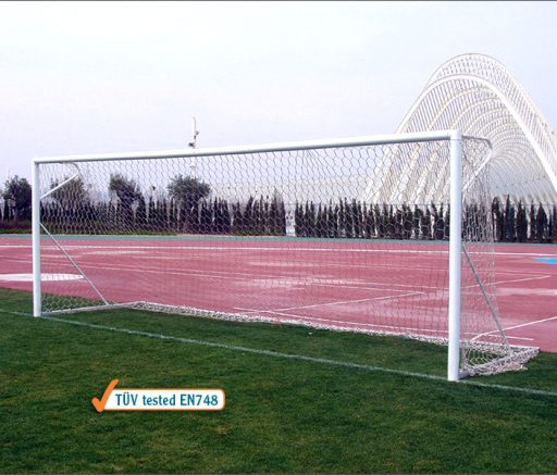 Pair of official size soccer goals