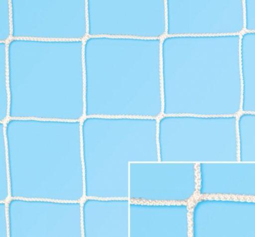 Pair of nets for standard soccer goals made of polypropylene