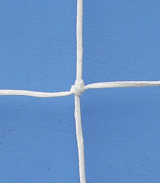 Pair of nets for futsal goals made of polyethylene