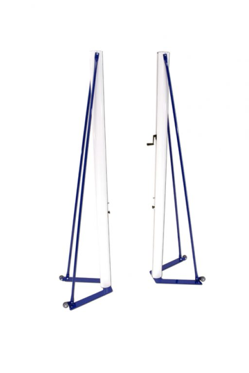 Freestanding portable volleyball system, aluminium model for competition