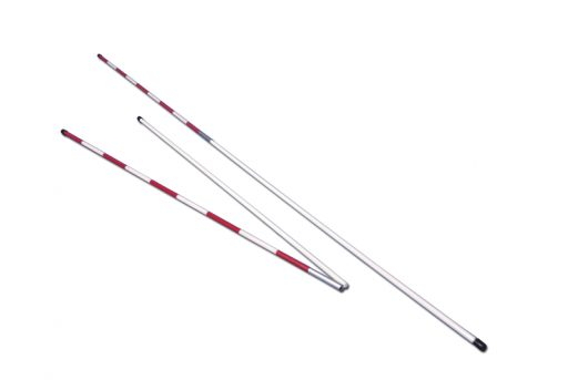 Pair of two pieces fibreglass antennas for volleyball net