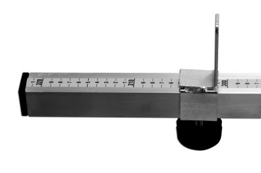 Aluminium height measurer device for volleyball net