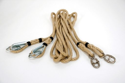 Pair of hemp ropes suitable for rings
