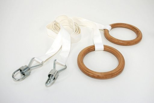 Pair of jointed nylon ropes suitable for rings