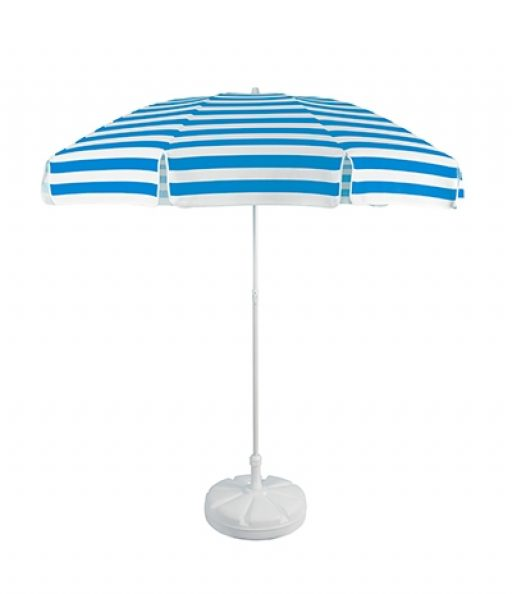 Outdoor parasol umbrella with plastic base