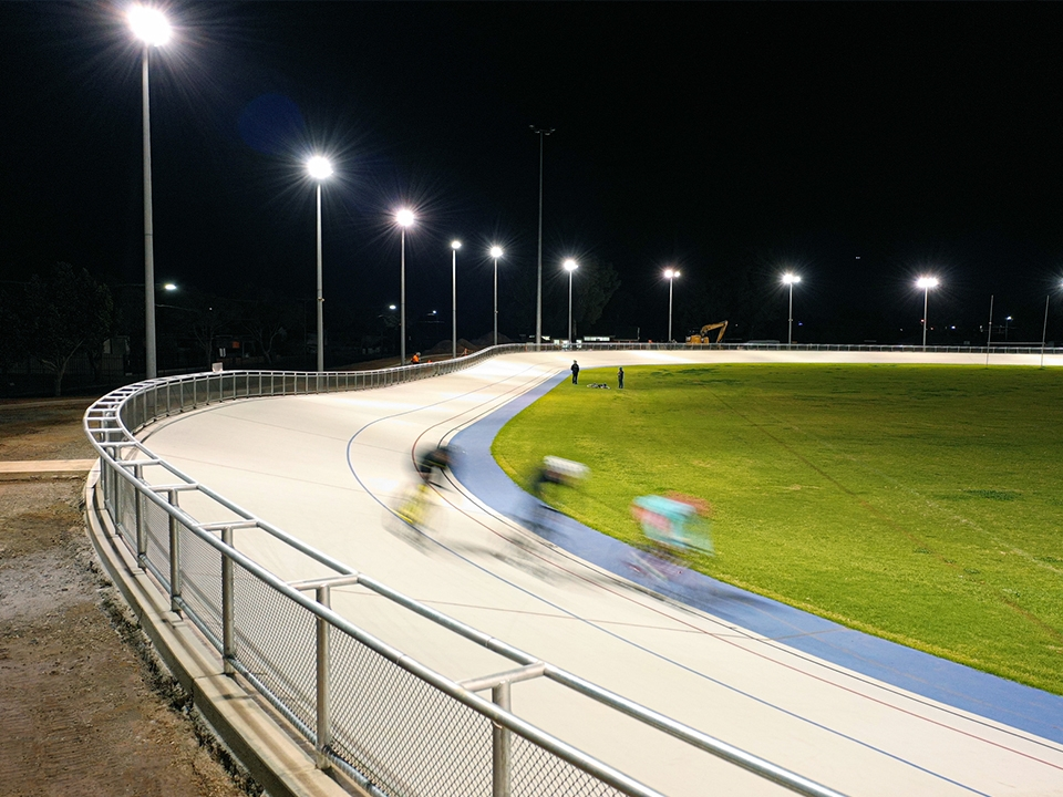 Hanson Reserve & Velodrome - New Mapecoat Race Track surfacing
